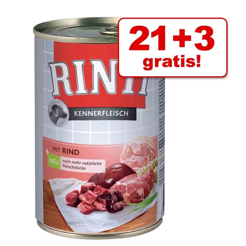 21 + 3 gratis! Rinti Pur, 24 x 400 g - Mieszany pakiet II, 2 smaki