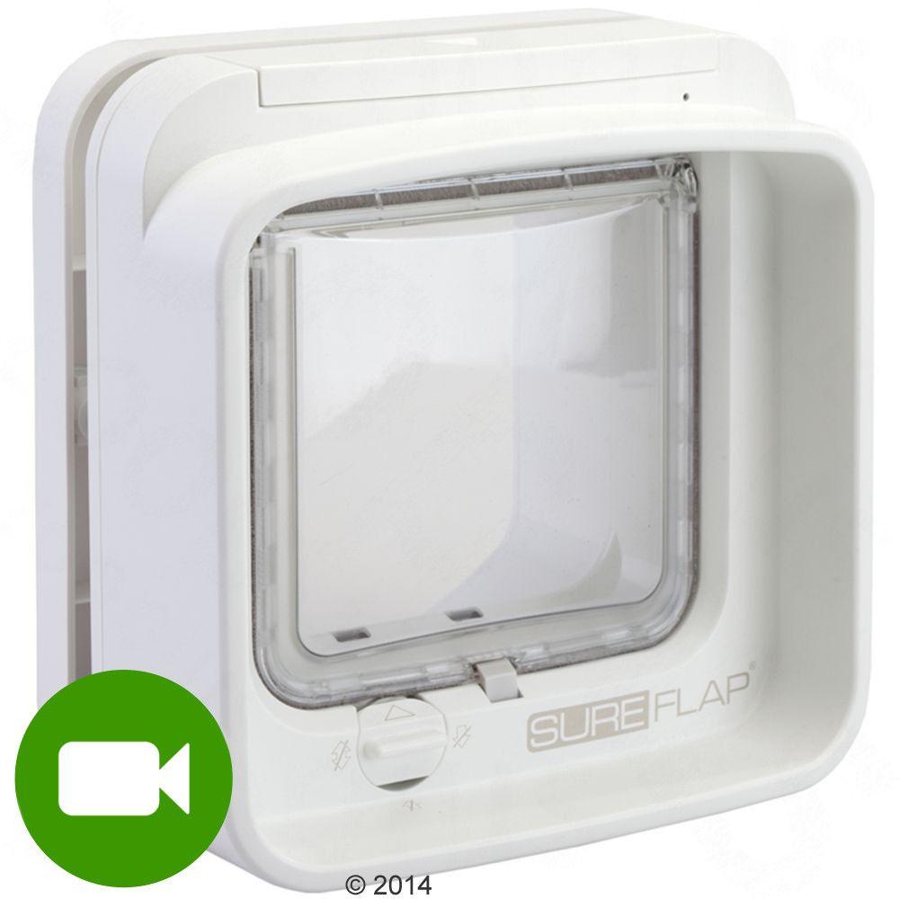 Drzwiczki dla kota SureFlap DualScan z czytnikiem mikrochipów - Białe