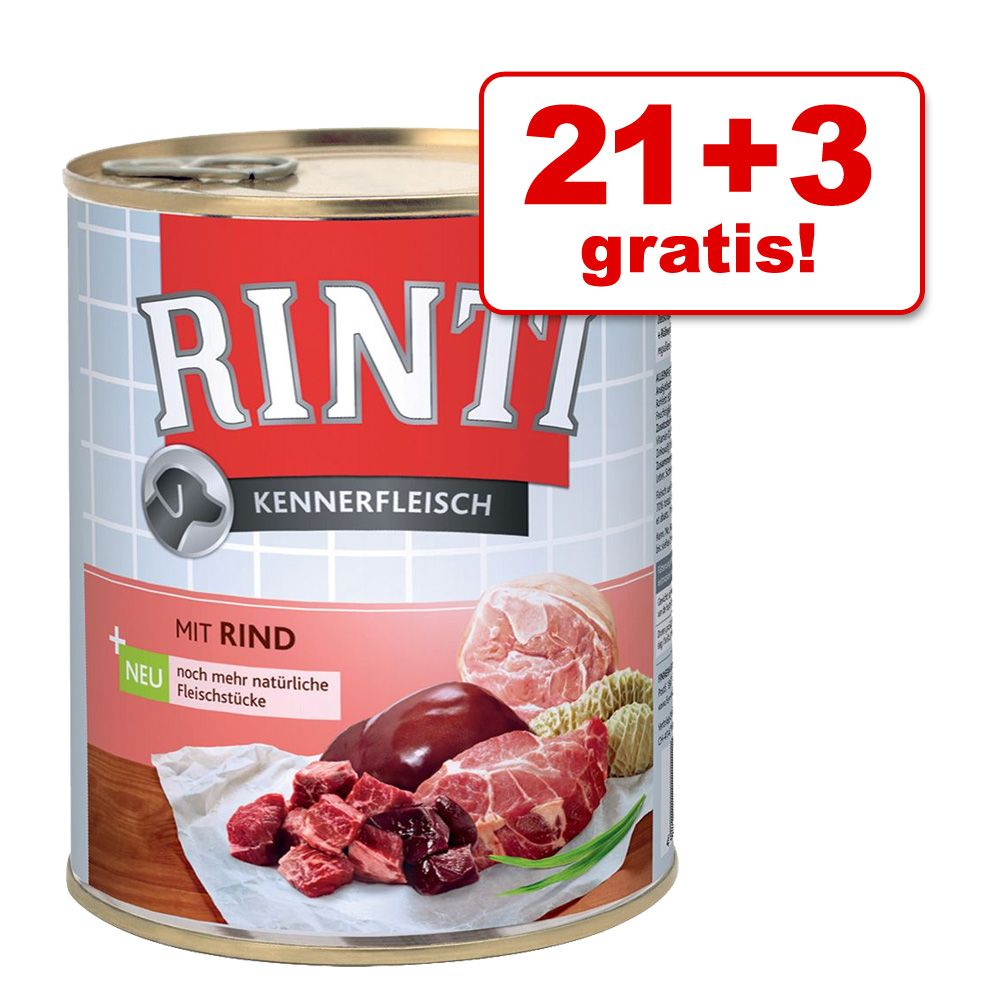 21 + 3 gratis! Rinti Pur, 24 x 800 g - Konina