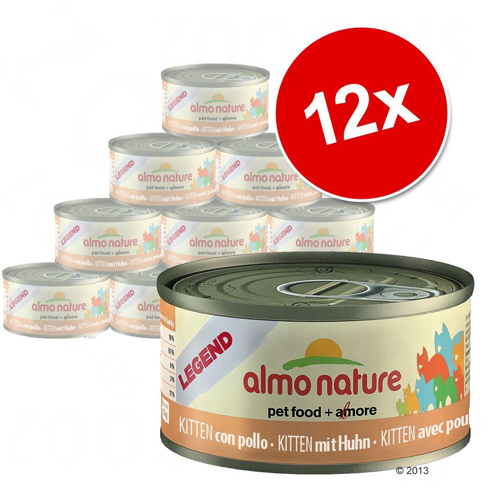 Korzystny pakiet Almo Nature Legend Kitten, 12 x 70 g  Kurczak