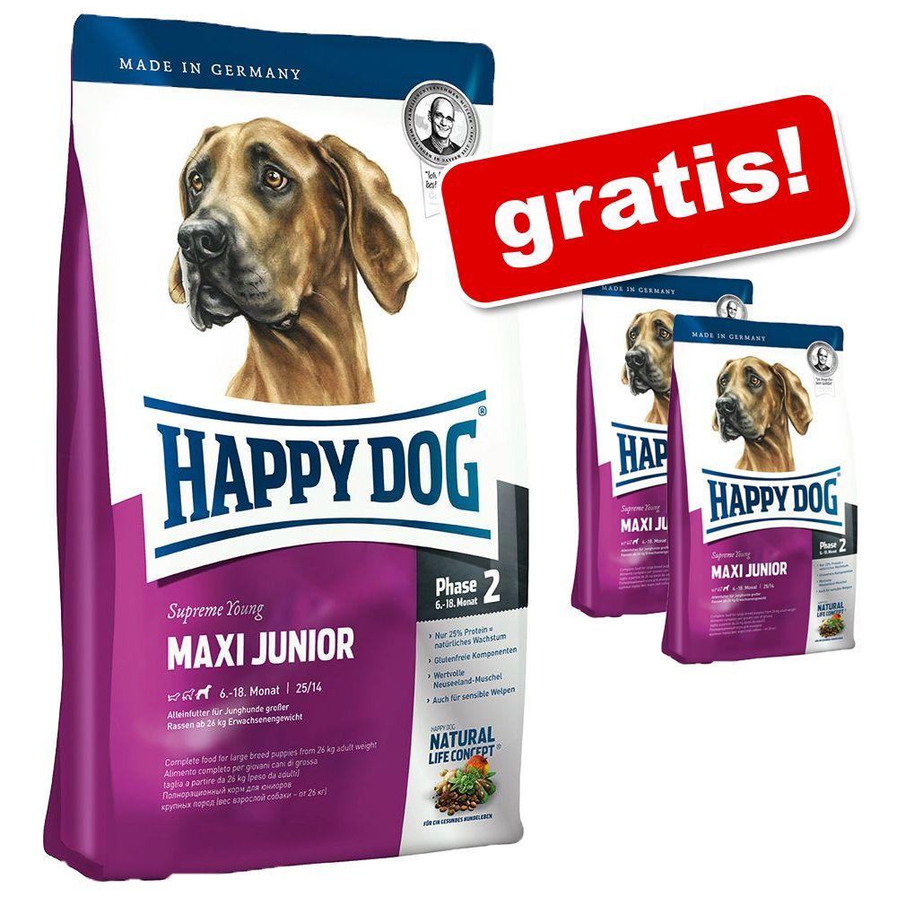 10 kg/12,5 kg/15 kg Happy Dog Supreme + 2 x 1 kg gratis! - Fit & Well Senior, 12,5 kg