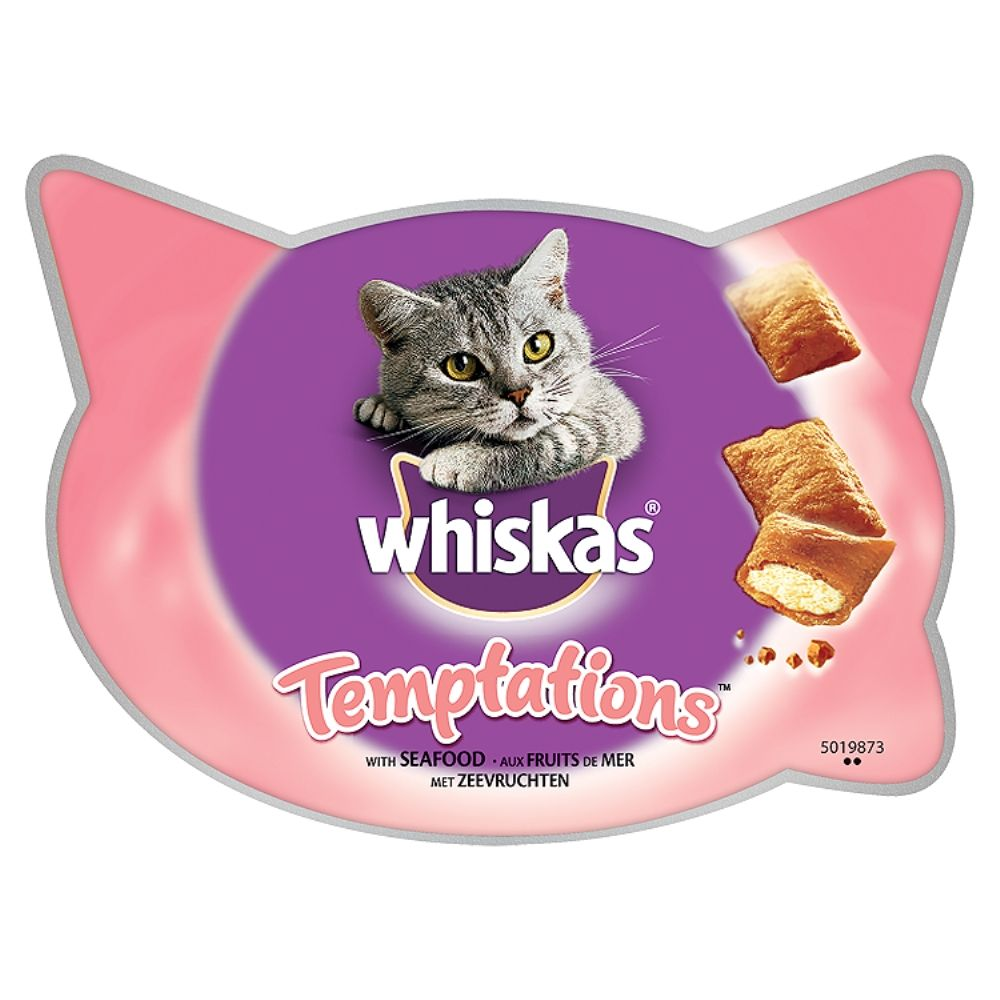 6x60g Chicken & Cheese Temptations Whiskas Cat Treats