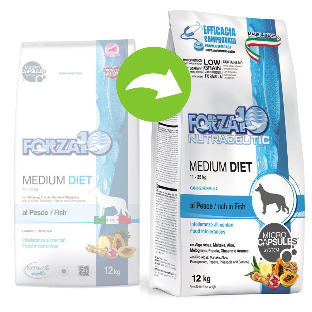 Forza 10 Medium Diet med fisk - Ekonomipack: 2 x 12 kg