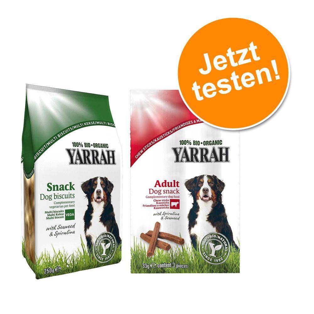 Mixpaket: 2 x Sorten Yarrah Bio Hundesnacks tes...