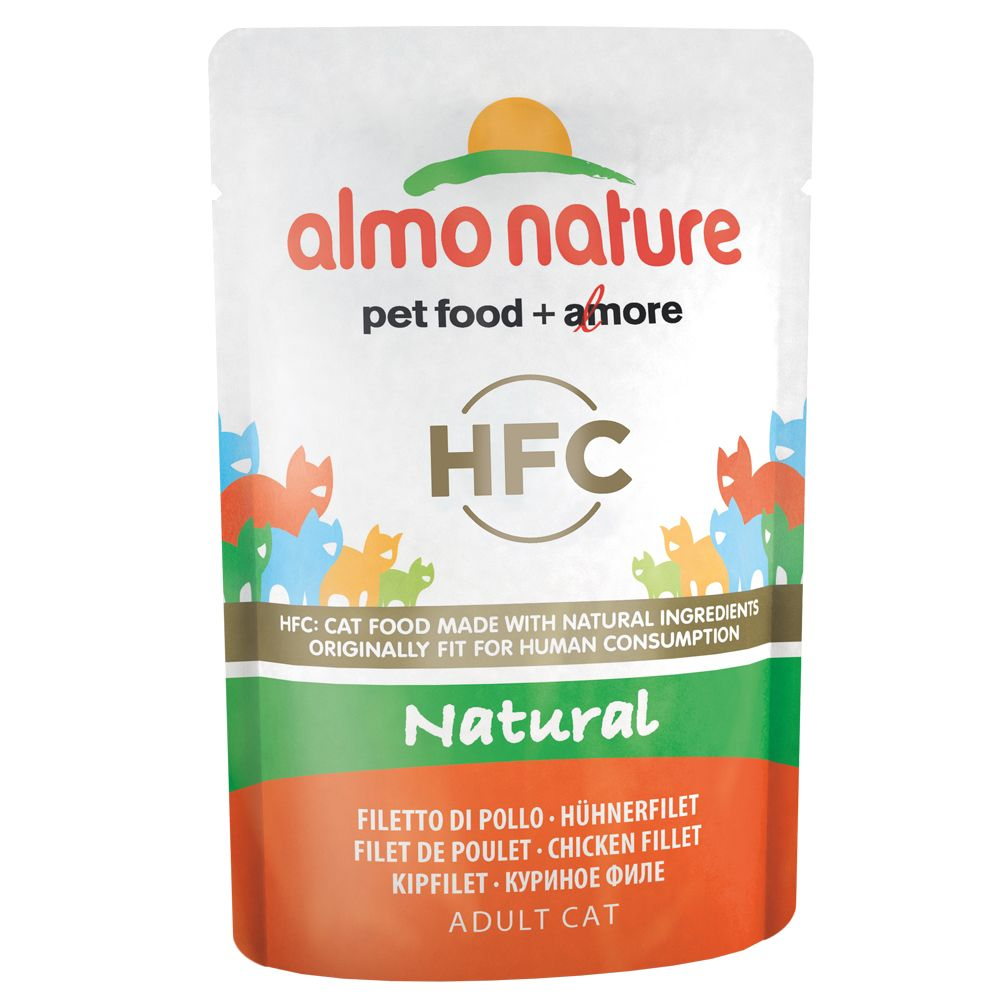 Almo Nature HFC Pouch 6 x 55 g - 3 sorters tonfisk i gelé