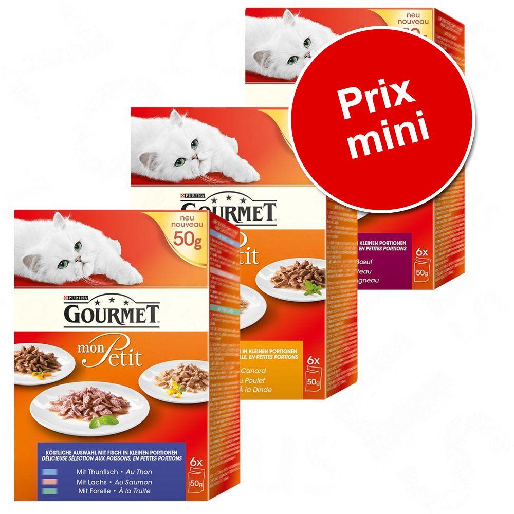 Chat Boîtes et sachets Gourmet Perle À la carte Mon Petit Lots Fins connaisseurs Gourmet