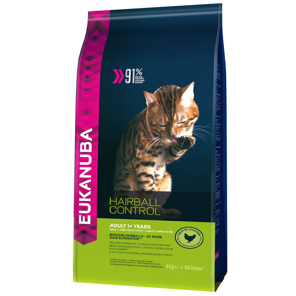 Image of Eukanuba Hairball Control Adult - 4 kg