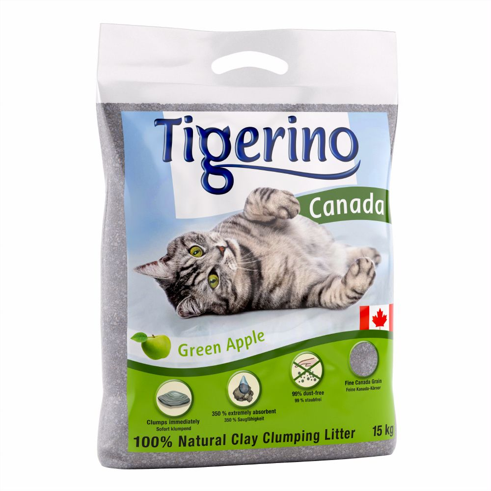 Tigerino Canada Cat Litter – Apple Scented - 15kg