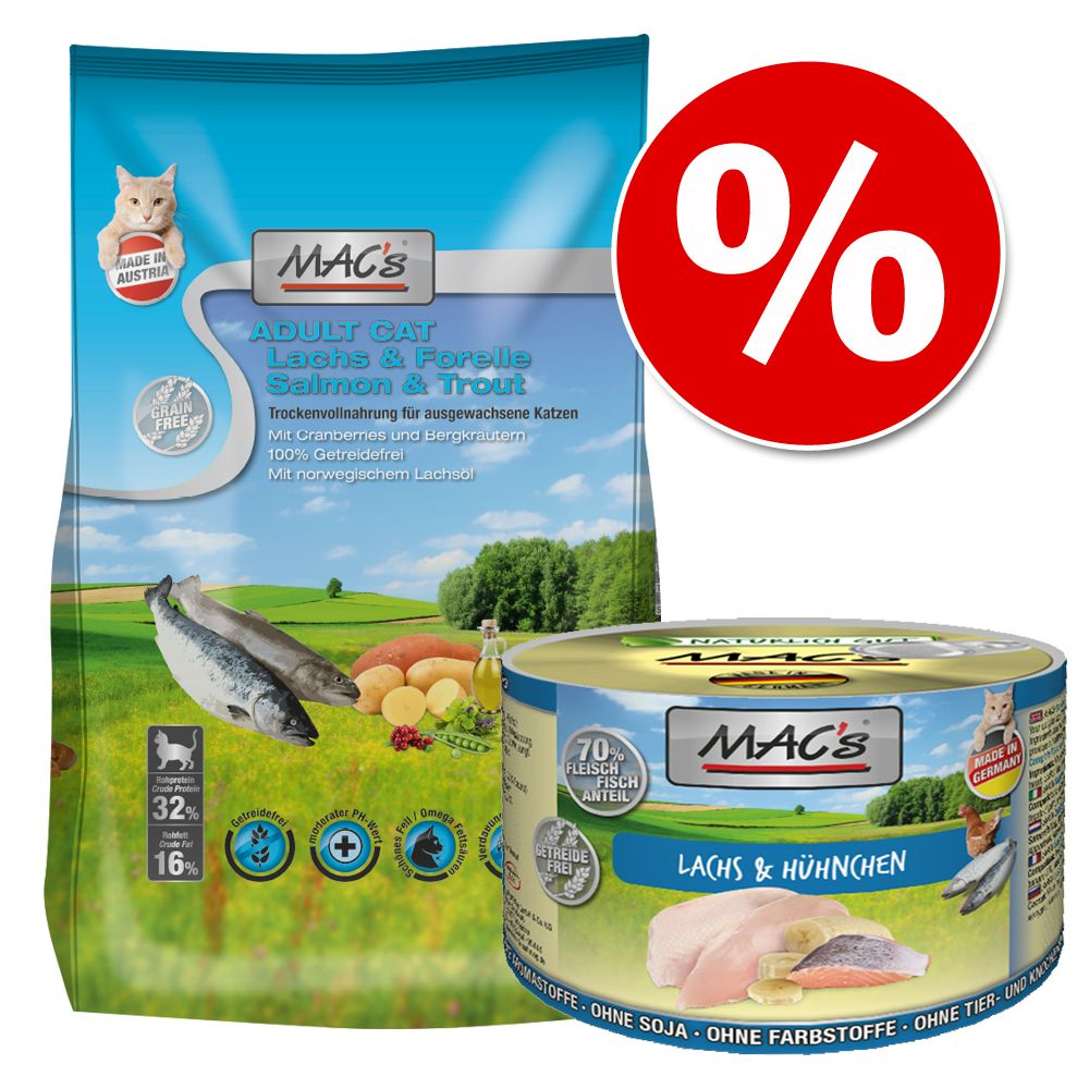 MAC's blandpack torrfoder + våtfoder - Adult Anka, kalkon & kyckling