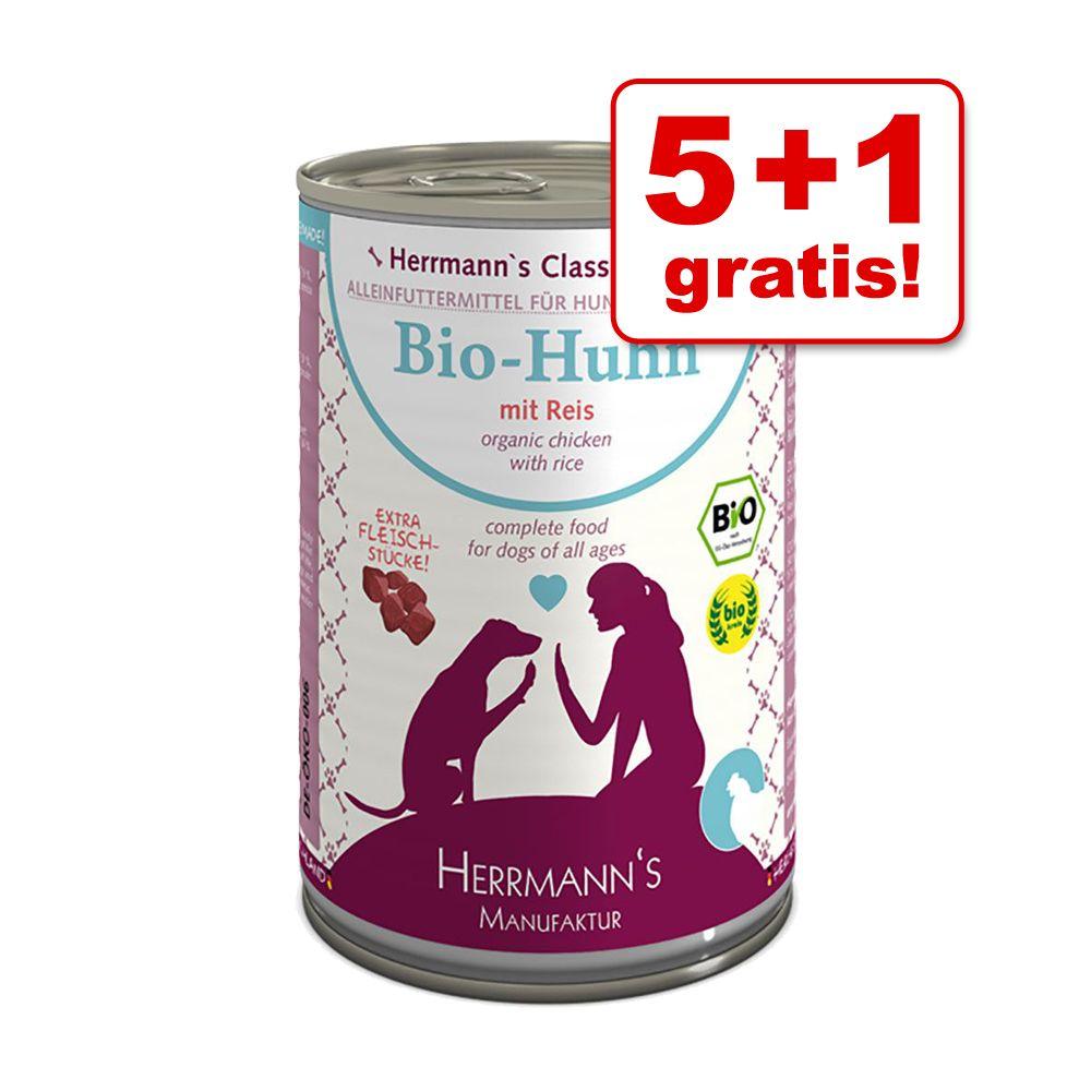 5 + 1 gratis! 6 x 400 g Herrmann´s Menü - Bio G...