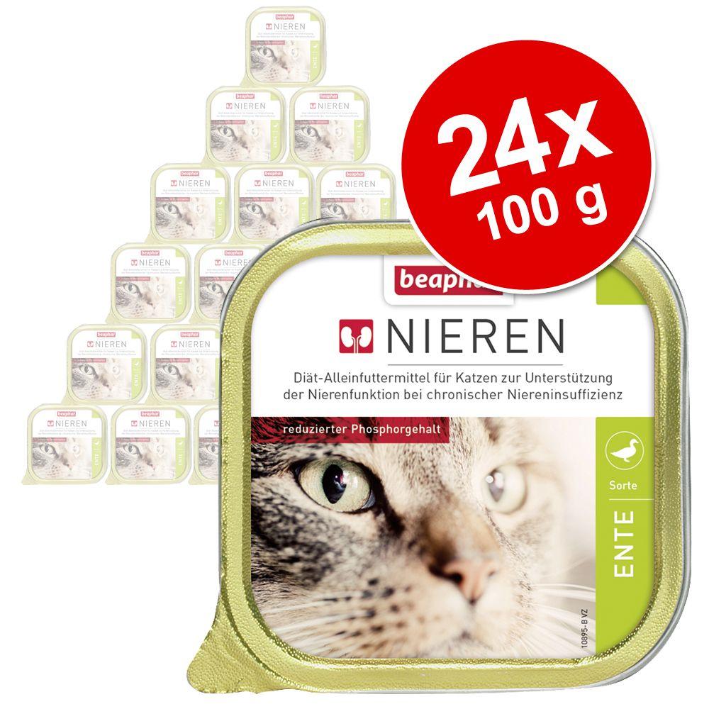Sparpaket beaphar Nieren-Diät 24 x 100 g - Lamm