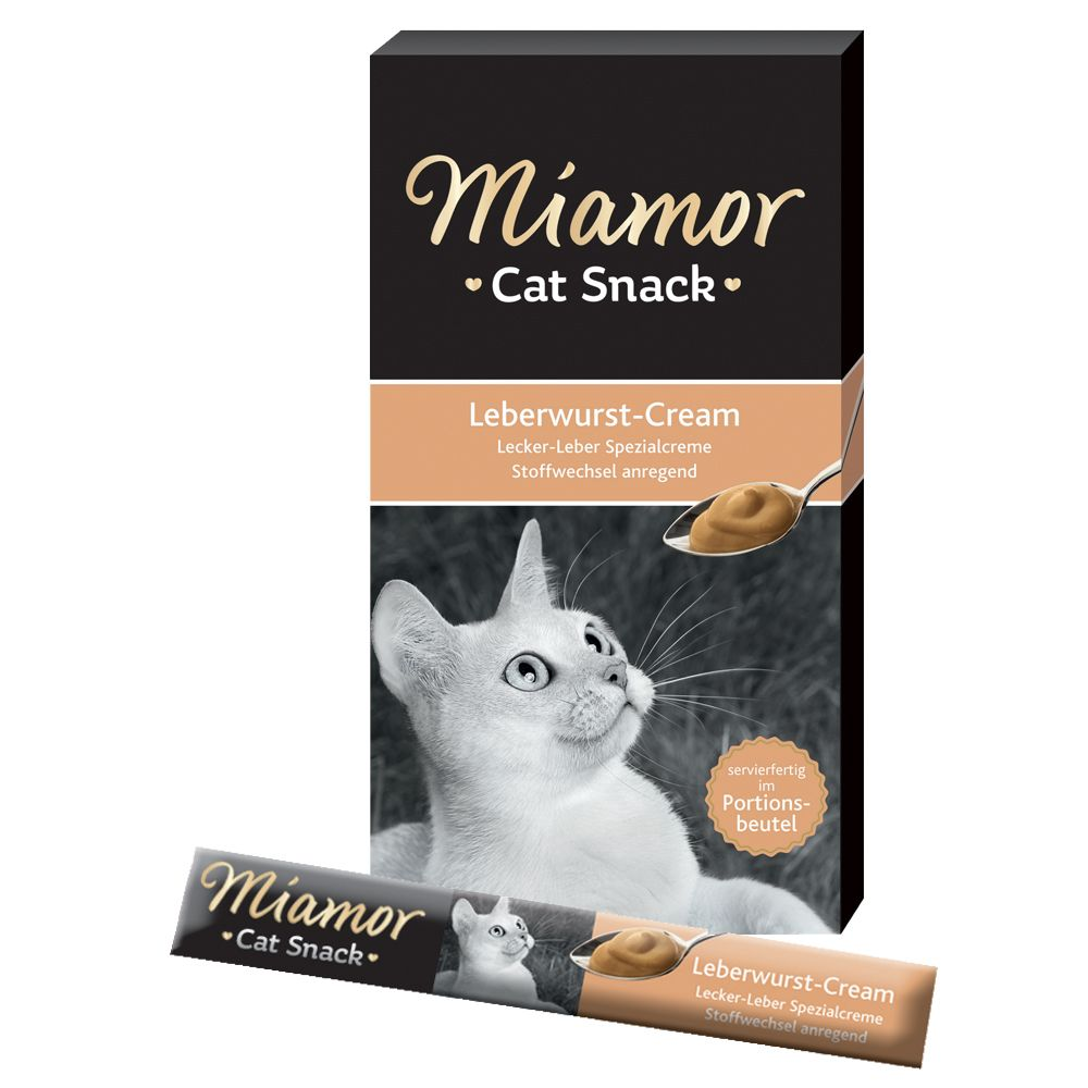 Miamor Cat Snack Liver Paté Cream - 6 x 15 g