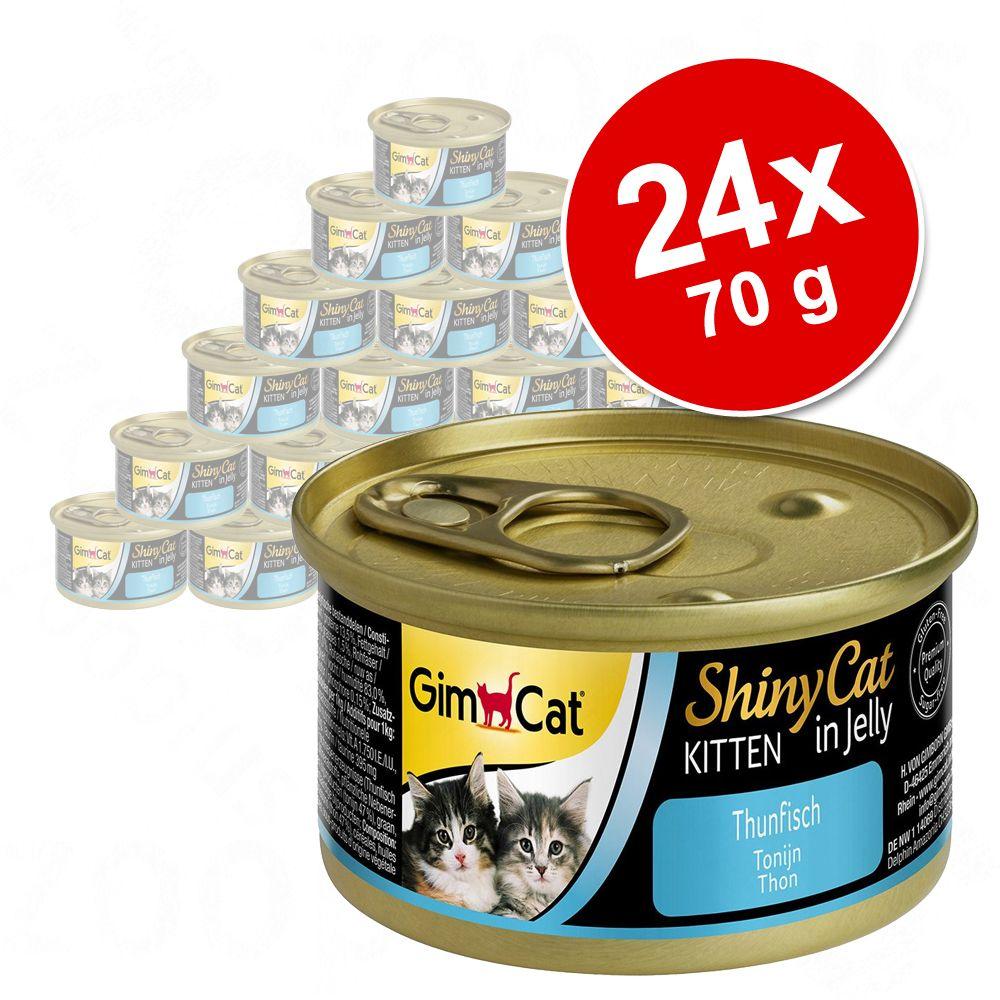 Megapakiet GimCat ShinyCat Kitten w galarecie, 24 x 70 g - Tuńczyk
