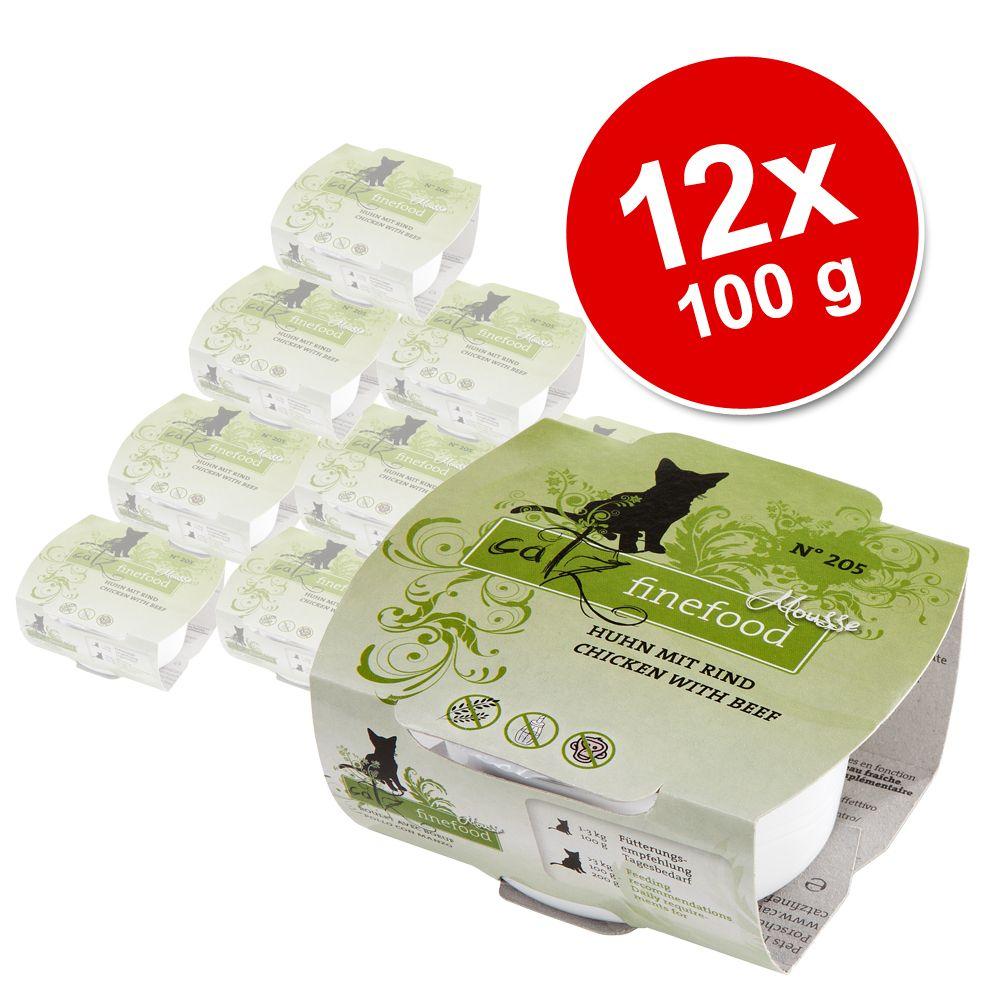 Korzystny pakiet Catz Finefood Mus, 12 x 100 g - N°207 - Ryby karpiowate, tuńczyk i krewetki