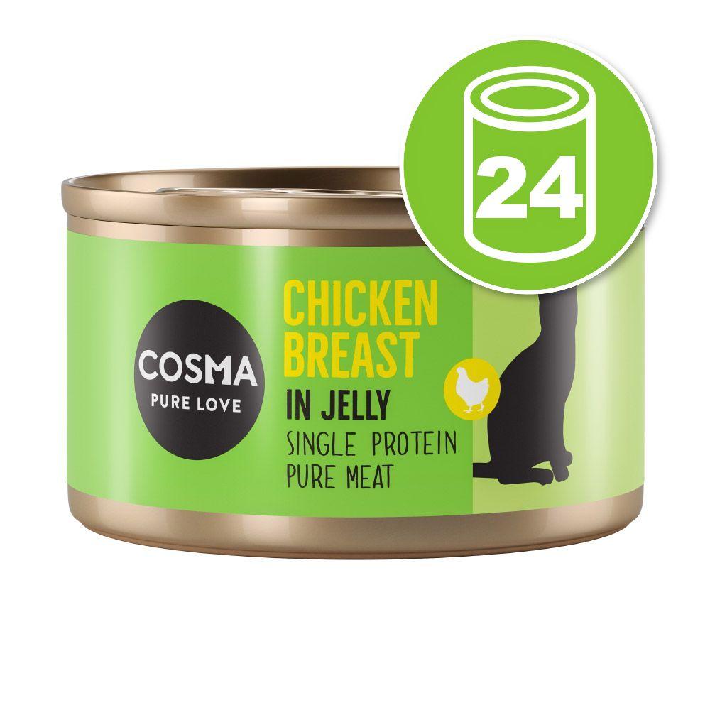 Lot Cosma Original en gelée 24 x 85 g pour chat - poulet