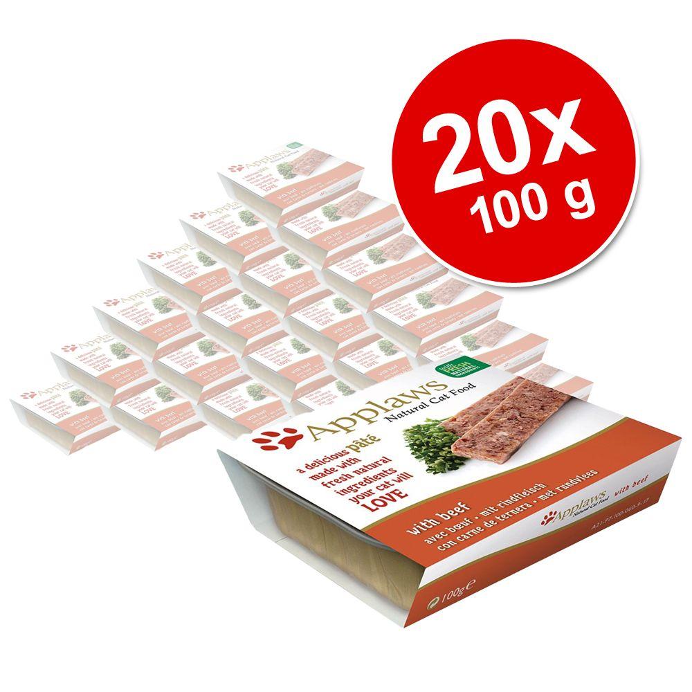 Korzystny pakiet Applaws Cat Patè, 20 x 100 g - Łosoś