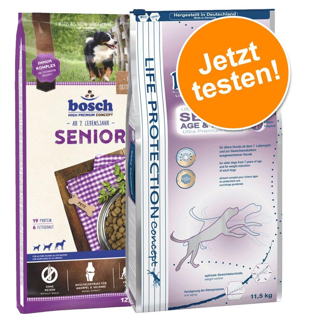 Image of Sparpaket: 2 x Großgebinde bosch Senior im gemischten Paket - Senior (12,5 kg) / Senior Age & Weight (11,5 kg)