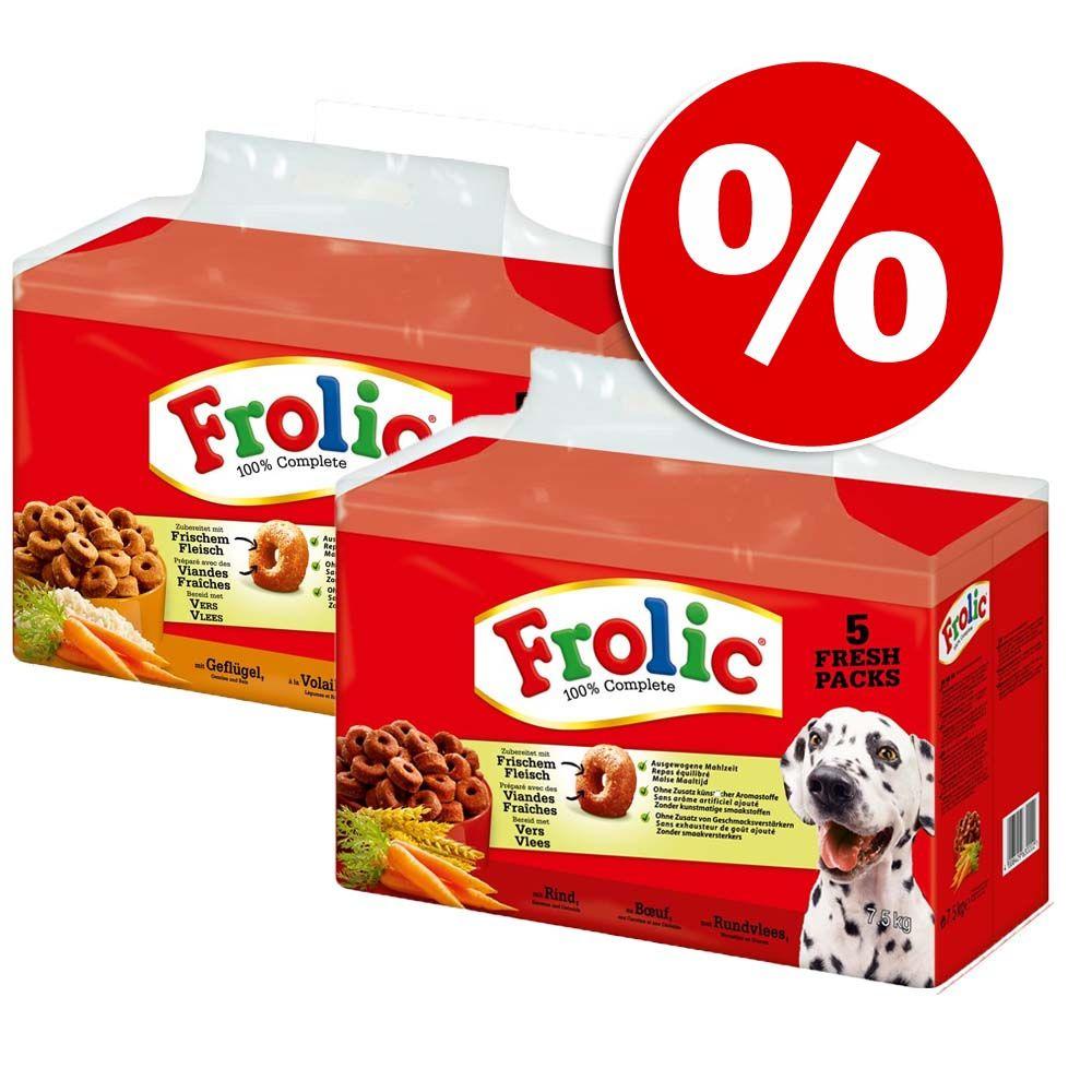 Dwupak Frolic Complete 2 x 7,5 kg - Pakiet mieszany, wołowina i drób