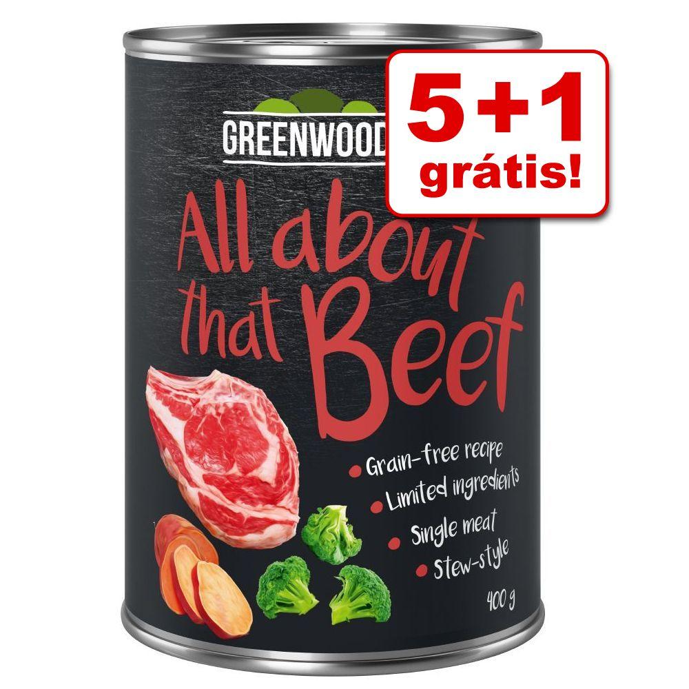 Greenwoods Adult comida húmida 6 x 400 g em promoção: 5 + 1 grátis! - Frango com grão-de-bico e espinafres
