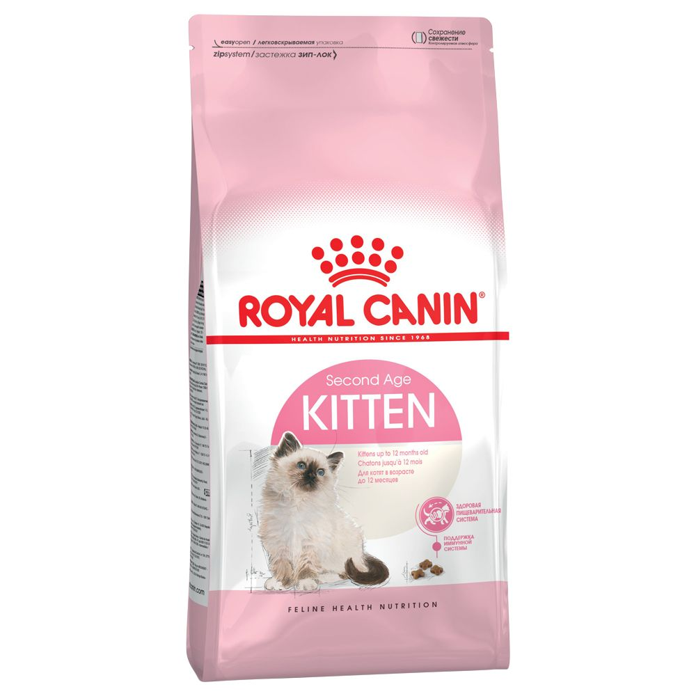 Highly nutritious cat food, Royal Canin Kitten is ideal for kittens from 4 to 12 months old. Kittens have an increased requirement for energy, protein, minerals, t...
