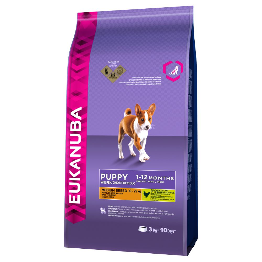 Eukanuba Puppy Medium Breed, kurczak - 3 kg