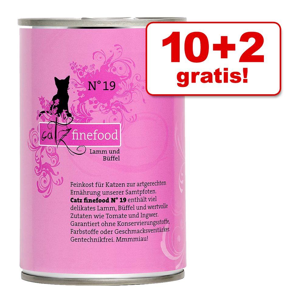 10 + 2 gratis! Catz Finefood w puszce, 12 x 400 g - Łosoś z drobiem