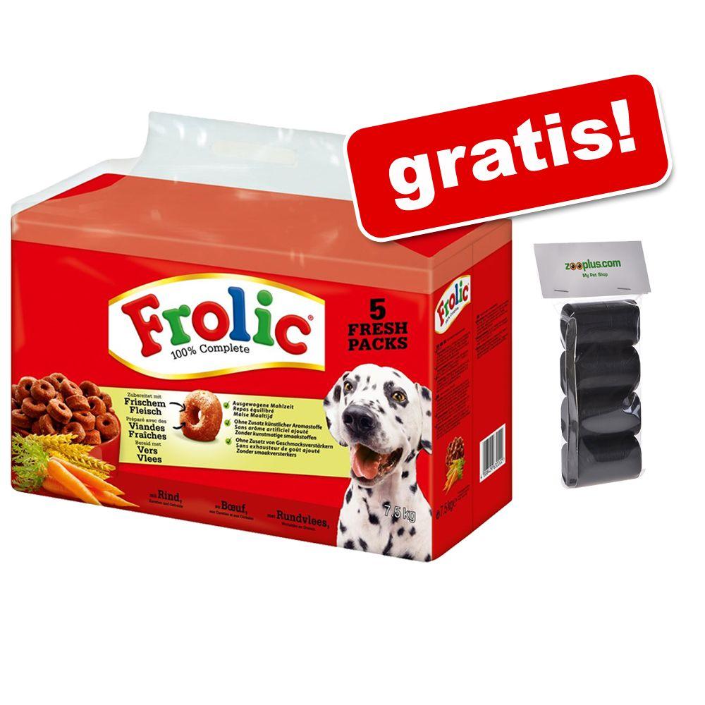 7,5 kg Frolic Complete + Czarne worki na odchody psa, biodegradowalne gratis! - Z drobiem