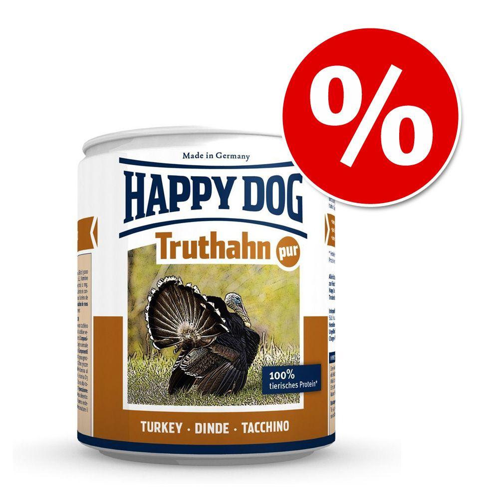 Mieszany pakiet próbny Happy Dog Pure, 6 x 800 g w super cenie! - 5 różnych smaków