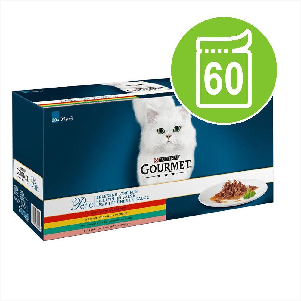 Blandpack Gourmet Perle 60 x 85 g - Kyckling, Nötkött, Lax & Kanin