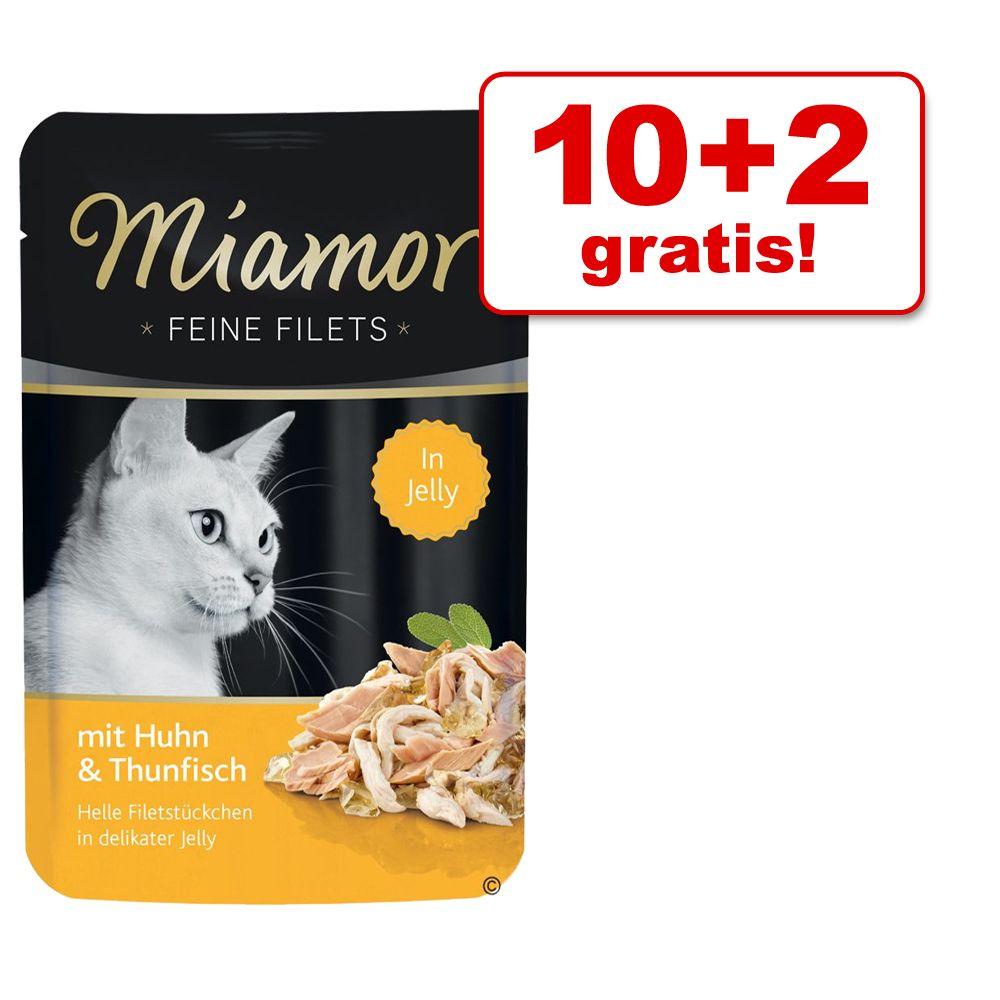 10 + 2 gratis! Miamor Feine Filets w saszetkach, 12 x 100 g - Tuńczyk z warzywami