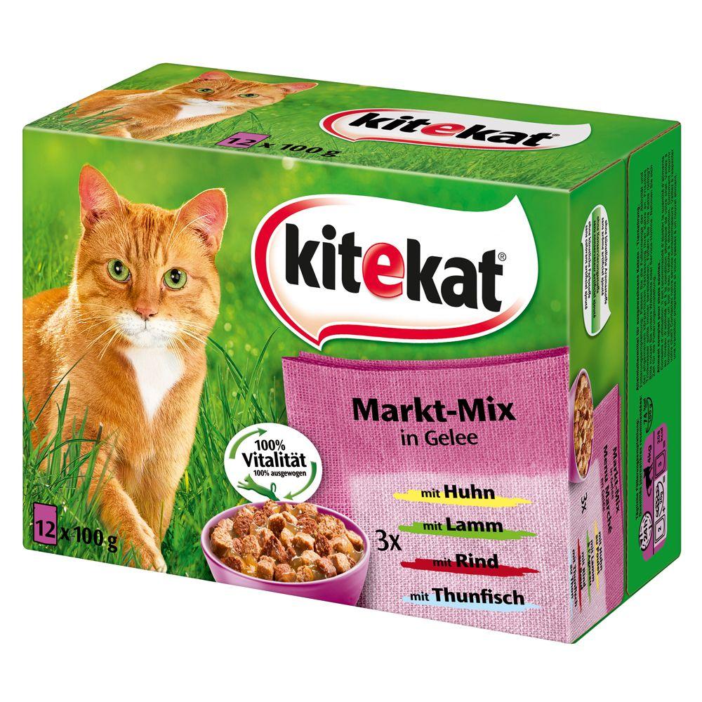Kitekat Frischebeutel 12 x 100 g - Markt-Mix in...