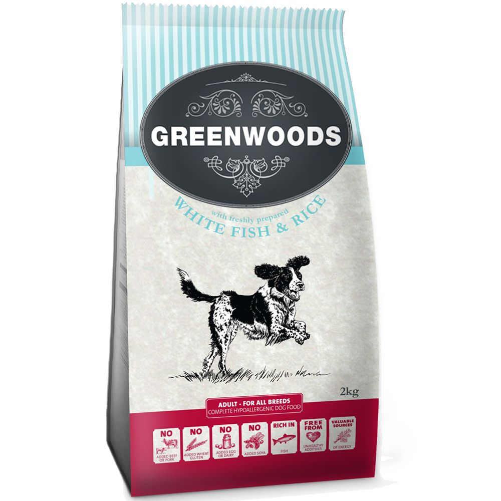 Greenwoods Dry Dog Food Mixed Trial Pack - Only £17.99!* - Turkey, Fish & Lamb (3 x 2kg)