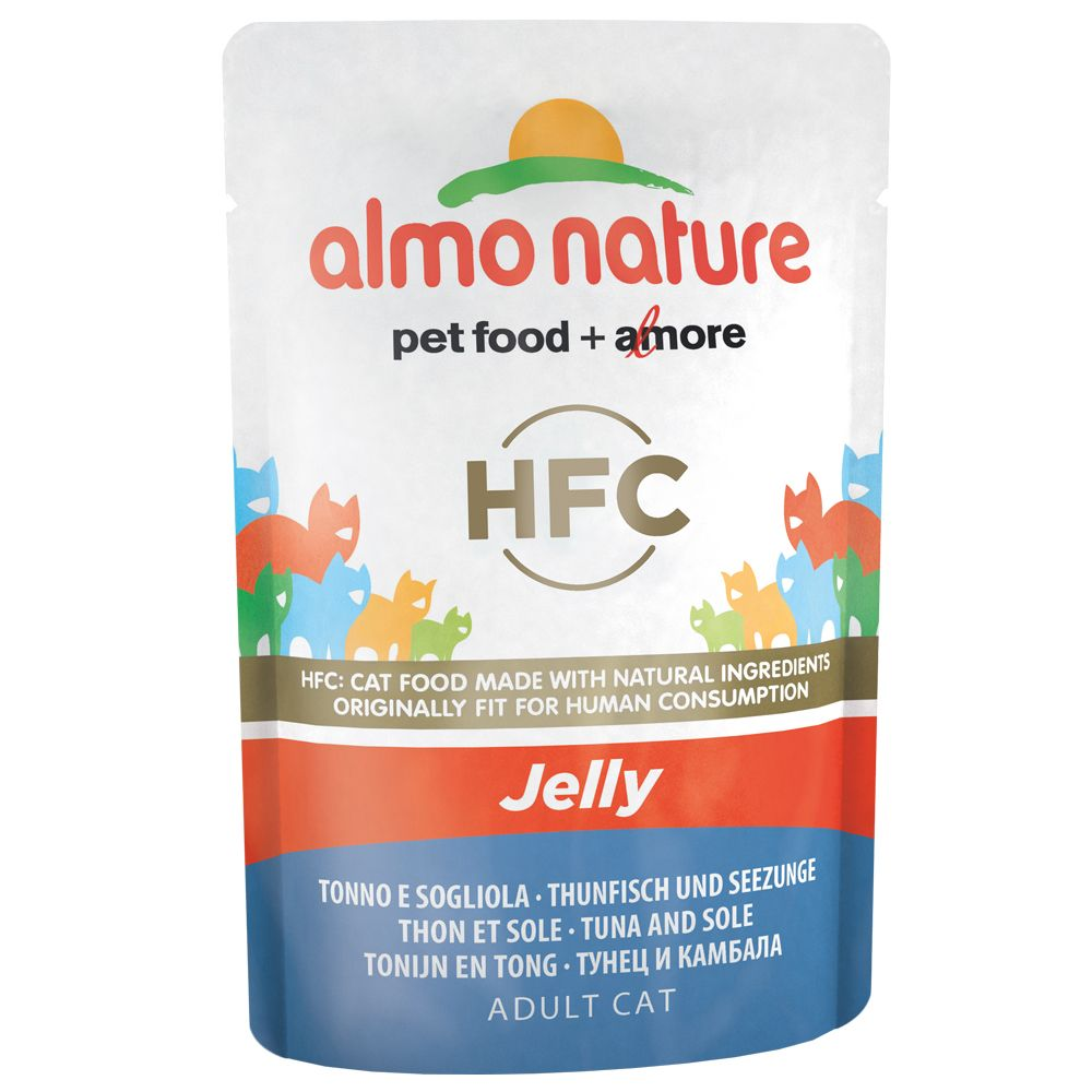 Almo Nature HFC Jelly Pouch 6 x 55 g Tonfisk & skarpsill