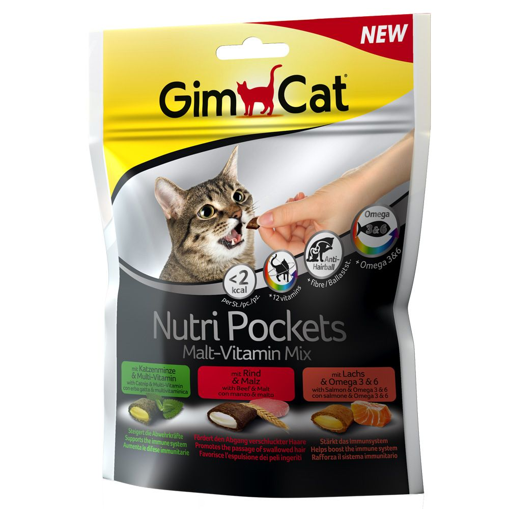 GimCat Nutri Pockets - Malt-Vitamin-Mix (150 g)