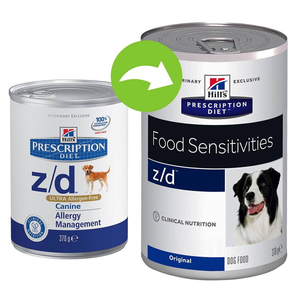 Foto Hill's z/d Prescription Diet Canine umido - 24 x 370 g Hill's Prescription Diet Allergie e digestione