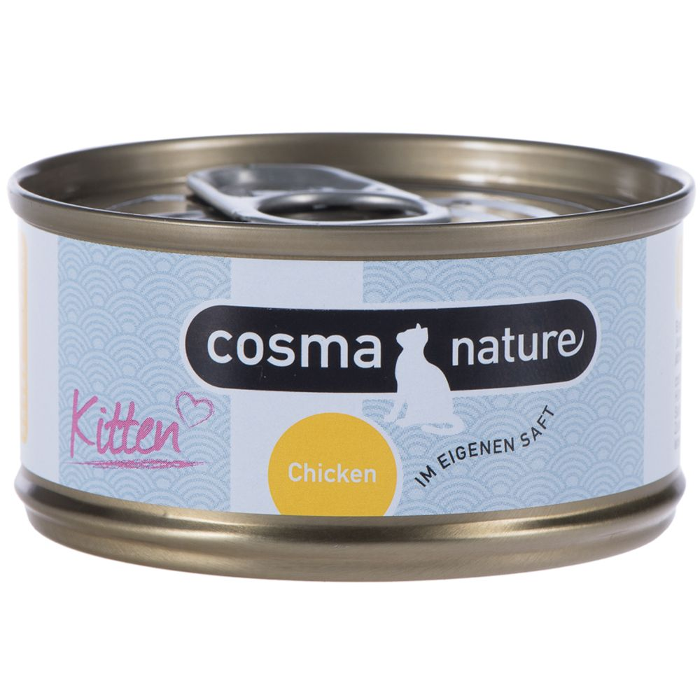 Cosma Nature Kitten - 6 x 70g Chicken & Tuna