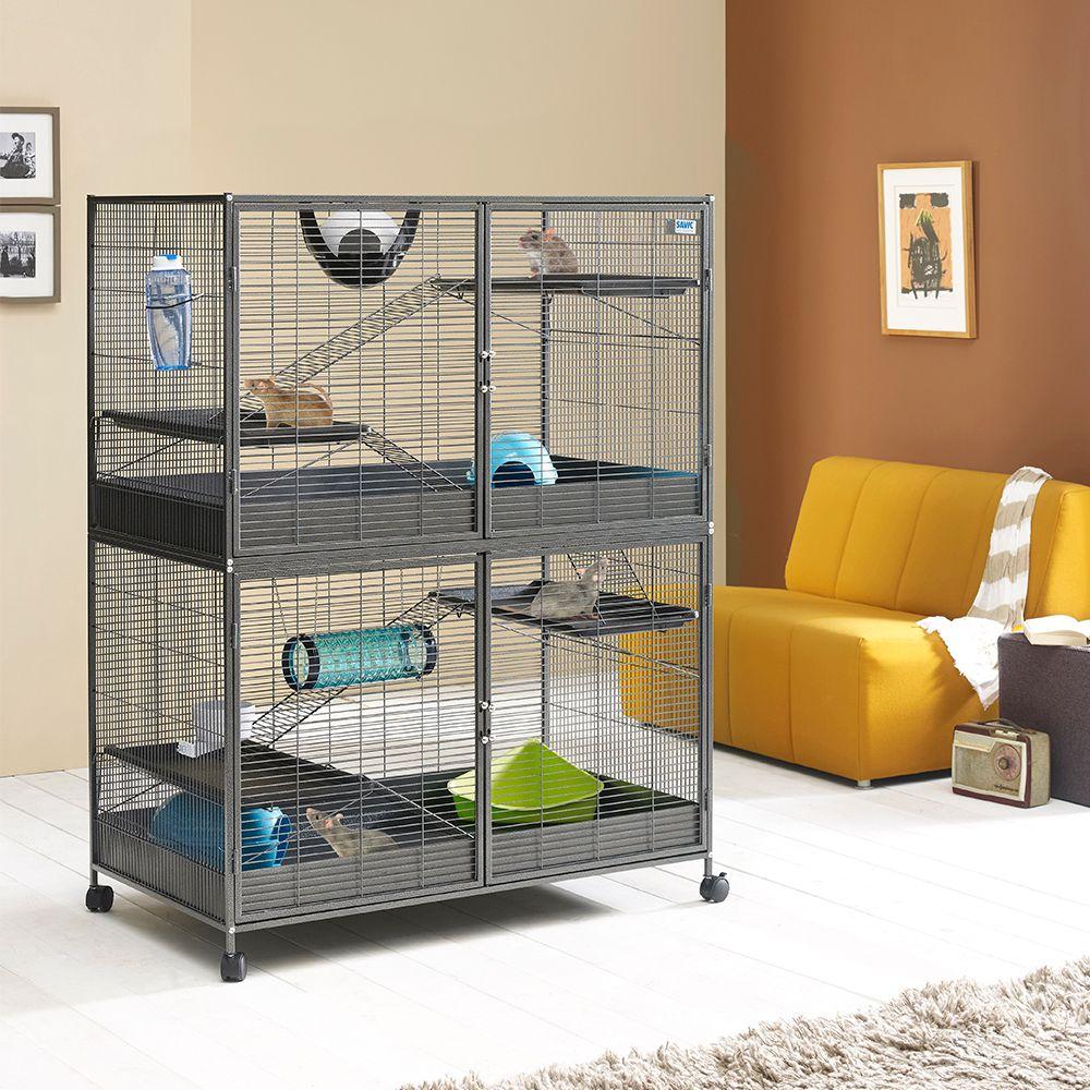 Cage Savic Suite Royal XL pour rat, furet et chinchilla L 115 x l 67,5 x H 153 cm