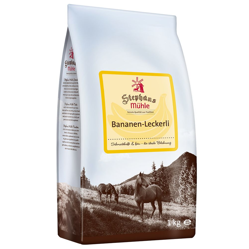 Stephans Mühle Horse Treats - Banana - Saver Pack: 3 x 1kg
