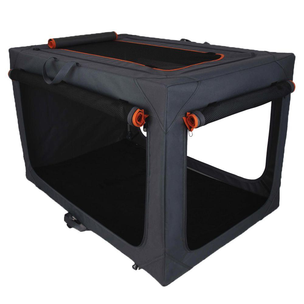 Faltbare Nylonbox Alu deluxe - Größe M: B 50,5 x T 76 x H 48 cm