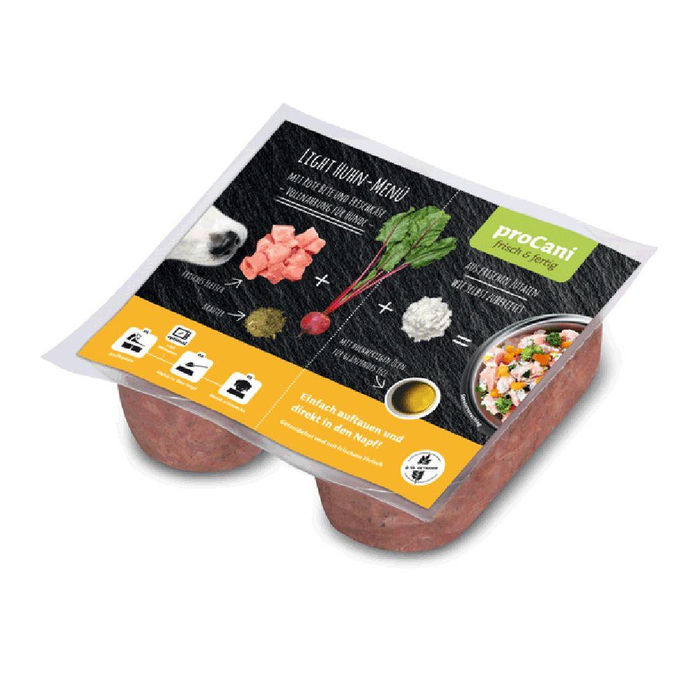 proCani BARF Light Huhn Menü mit Rote Beete und Frischkäse - 40 x 2 x 200 g