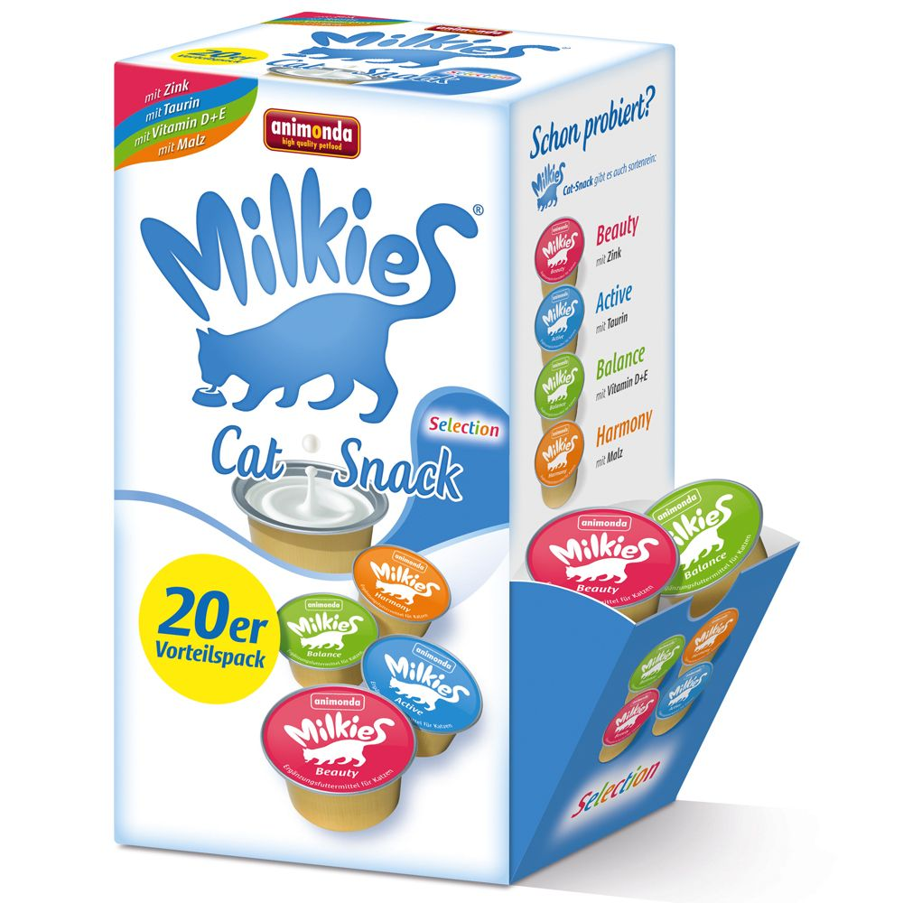 Lot mixte Animonda Milkies Selection pour chat - 20 x 15 g