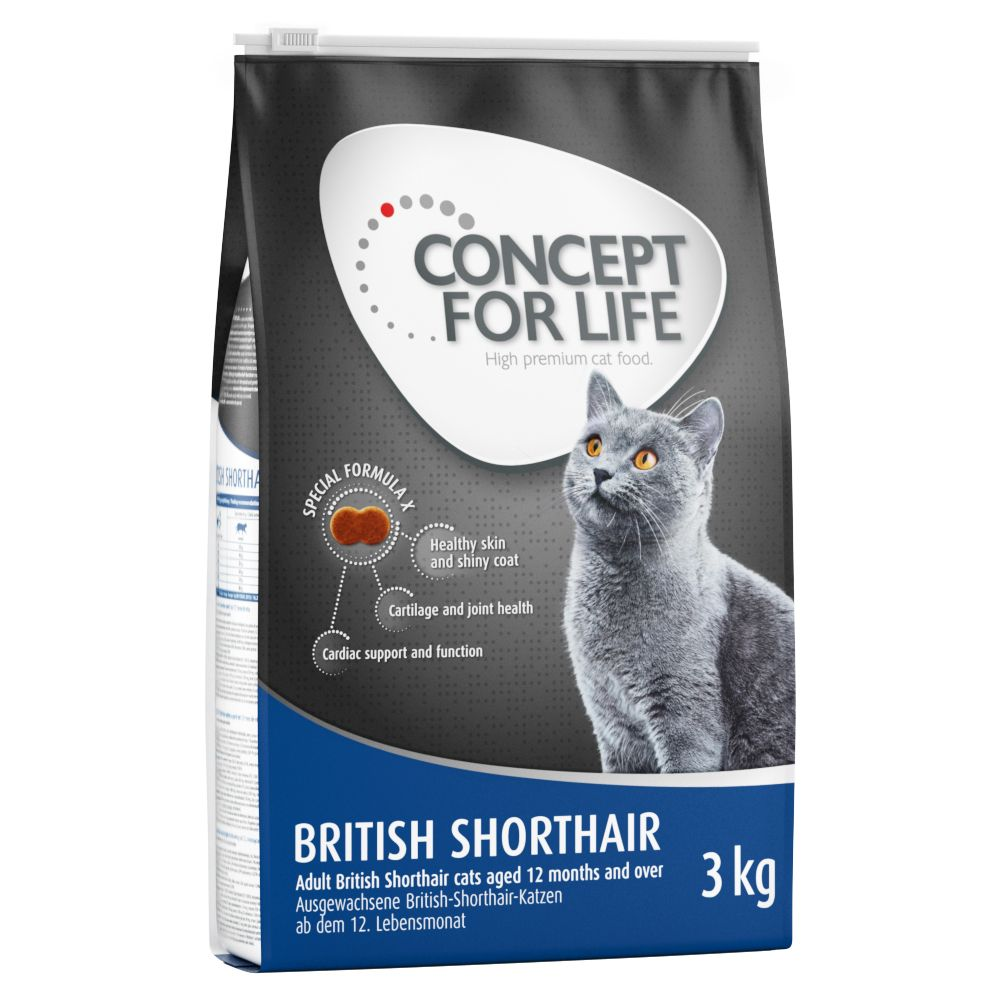 Concept for Life British Shorthair Adult - Ekonomipack: 3 x 3 kg