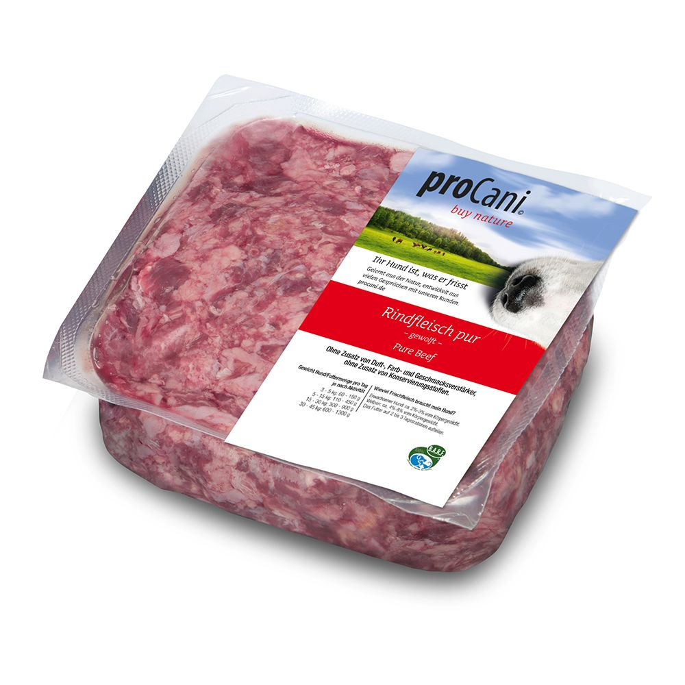 proCani Pure Beef Raw Dog Food