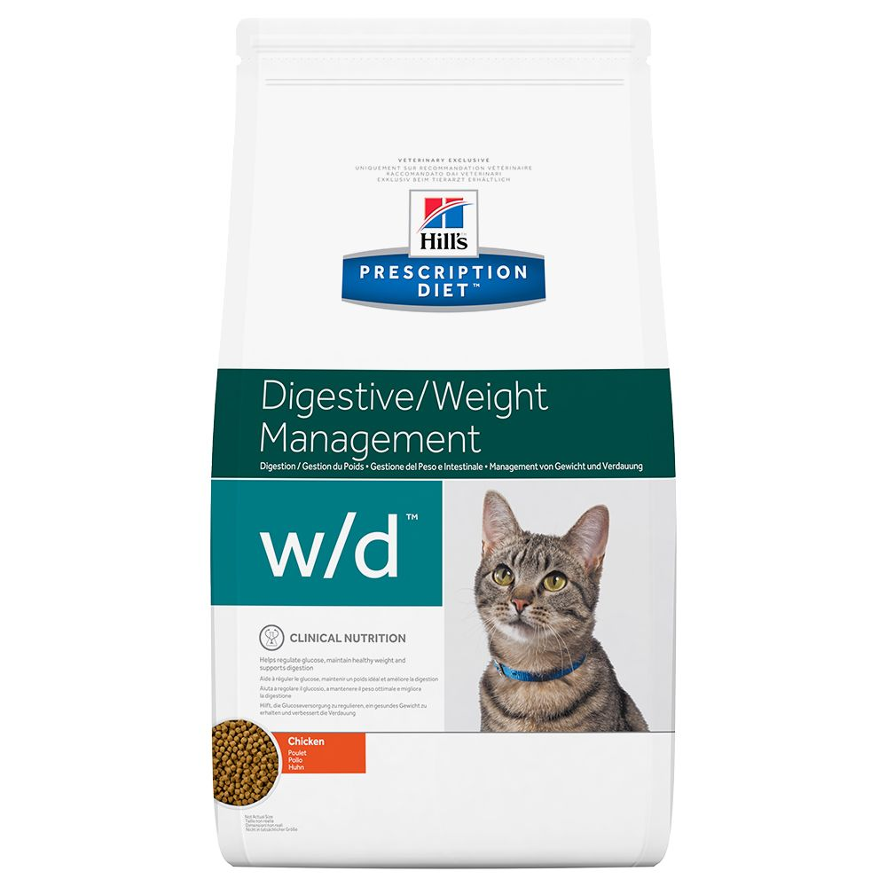 Hill's Prescription Diet Feline w/d Digestive/Weight Management - Ekonomipack: 2 x 5 kg
