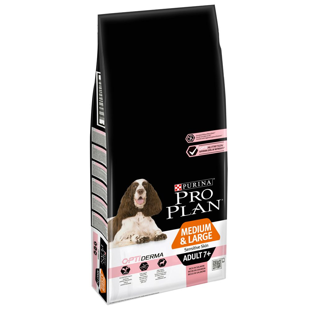 Foto Pro Plan Medium & Large Adult 7+ Sensitive OptiDerma Salmone - 2 x 14 kg - prezzo top! Purina Pro Plan Senior