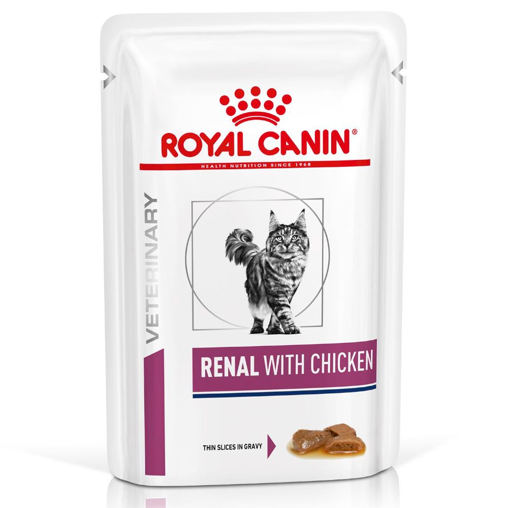 Royal Canin Veterinary Diet Feline Renal Chicken - 48 x 85 g