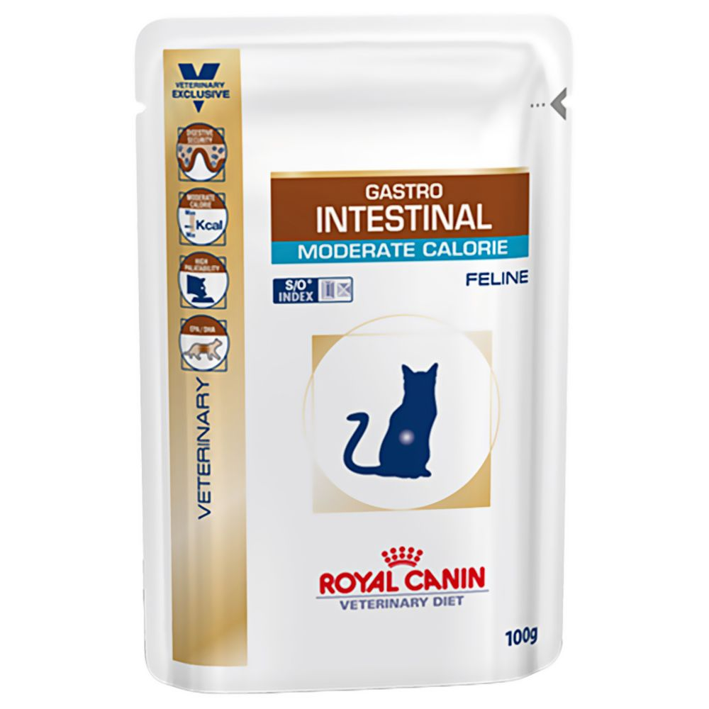 Intestinal Moderate Calorie Pouches Feline Royal Canin Veterinary Diet Wet Cat Food