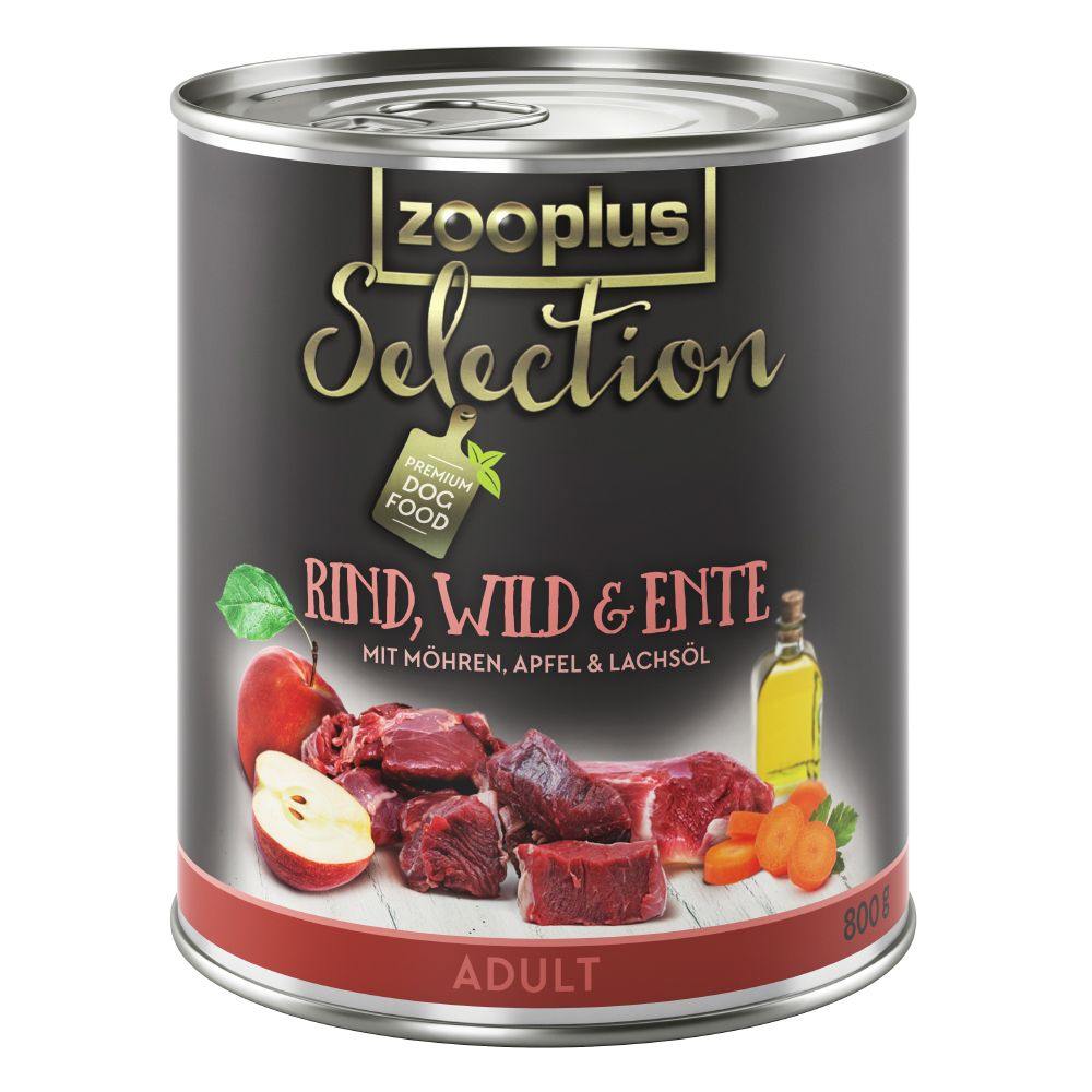 zooplus Selection Adult Beef, Venison & Duck - Saver Pack: 24 x 800g