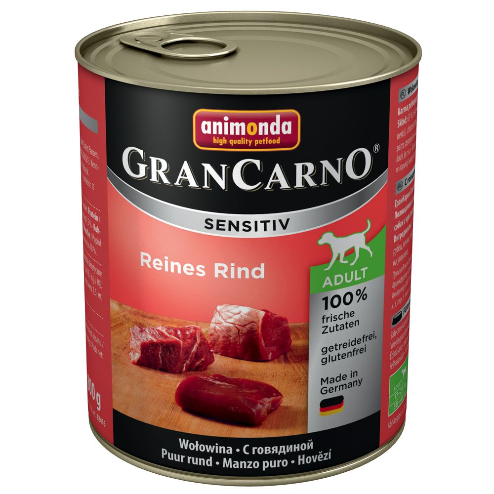 Animonda GranCarno Sensitive 6 x 800g - Pure Beef