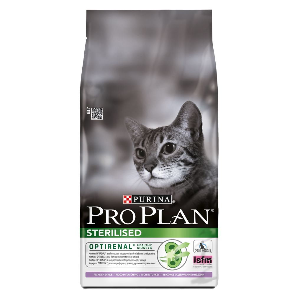 Purina Pro Plan Optirenal Sterilised Turkey Dry Cat Food